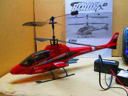 E Flite Blade CX2 Radio Controlled RC Helicopter w Spectrum DSM Transmitter $59.00