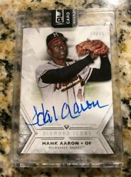 2018 Hank Aaron Topps Diamond Icons #12 of 25 ON CARD Auto MILWAUKEE BRAVES $599.00