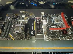 Asus Tuf B360M and MSI H110M gaming Micro atx Motherboards UNTESTED AS IS $89.99