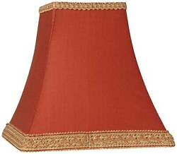 Rust Square Sided Lamp Shade 5x10x9 Spider $29.99