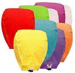 10pcs Paper Chinese Lanterns Assorted Colors For Wish Birthday Wedding $29.50