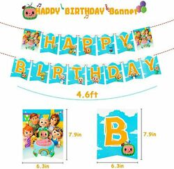 COCOMELON BANNER theme Birthday Party Decoration supplies BALLOON baby shower JJ $11.99