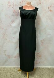 £15 CLEARANCE BLACK EVENING DRESS CLASSY LONG FITTED OPEN BACK OCCASION DEBUT 12 GBP 15.00