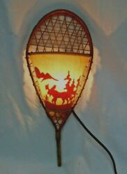 Rustic Winter Snowshoe Accent Wall Lamp Sconce Cabin Lake Home North Woods Lodge $49.00