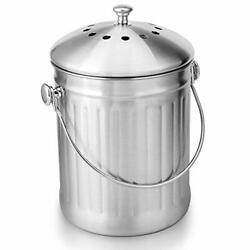 ENLOY Compost Bin Stainless Steel Indoor Compost Bucket for Kitchen $29.94