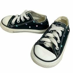 Converse All Star Toddler Sneakers Size 5T Colorful Hearts Lace Up Baby Shoes $15.00