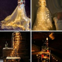 20 LED Fairy Lights String Lamps Solar Power Party Wedding Garden Outdoor Decors $15.83