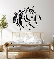 Vinyl Wall Decal Abstract Beautiful Animal Horse Girl Bedroom Stickers g4717 $19.99