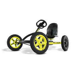 BERG Buddy Cross Kids Pedal Go Kart Ride On Toy Black amp; Yellow For Parts $159.99