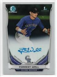 2014 Bowman Chrome Draft Forrest Wall On Card Auto Rockies First Year Rookie RC $6.99