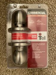 Tell Commercial Heavy Duty Keyed Entry Doorknob Push Button Lock CL500008