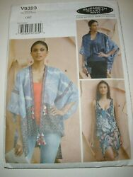 Vogue 9323 Sewing Pattern Swimsuit Beach Cover Up amp; Wrap One Size UC $7.99