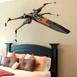 X Wing Wall Decals T70 Star Wars Wall Mural The Force Awakens Wall Designs a95 $21.95