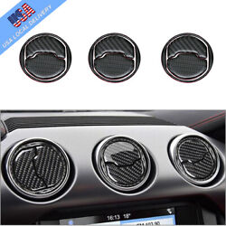 9Pcs Carbon Fiber Interior Air Vent Outlet Cover Trim For Ford Mustang 2015 2019 $14.27