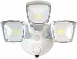 Dusk to Dawn LED Security Outdoor Lighting 37.5W 3 Head Flood Lights Outdoor