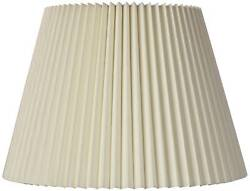 Ivory Pleated Lamp Shade Traditional Linen Fabric 9x14.5x10 Spider $39.99