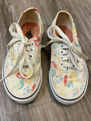 Vans Off The Wall Girls Kids Youth Disney Ariel Little Mermaid Shoes 11 $44.99