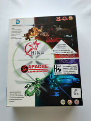 HIND Limited Edition Apache Longbow CD ROM INTACT BIG BOX Helicopter Simulator AU $31.95
