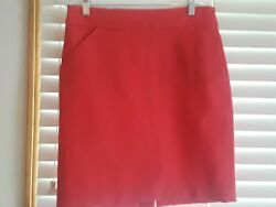 Nwt J. Crew Red Pencil Skirt Size 4 $10.00