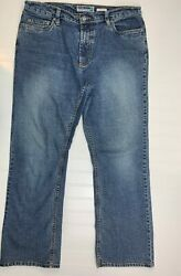 Old Navy Womens At Waist Boot Cut Stretch Blue Medium Wash Jeans Size 12 Short $14.84