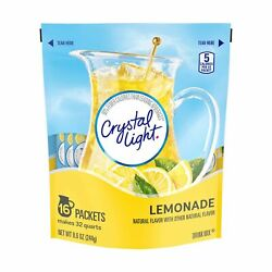 Crystal Light Drink Mix 12Pk x 16 Packets Lemonade Refresing Delicious Beverage $12.88