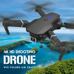 2021 NEW drone 4k 1080P HD wide angle dual cam WIFI FPV Foldable RC Helicopter $77.48