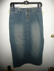 Stephen Hardy Squeeze long jean skirt jrs size 3 $7.79