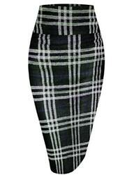 Hybrid amp; Company Womens Pencil Skirt for Office Wear 181363 blkroy Size Large $13.99