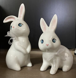 Target Spritz Ceramic Bunny EASTER DECORATION IN HAND Set Of 2 **NEW** $18.99