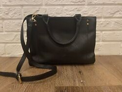Womens Target A New Day Black 3 Way Satchel Square Purse With Shoulder Strap EUC $14.99