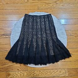 Ann Taylor LOFT Women#x27;s Lace Pencil Skirt Size 4 $12.00