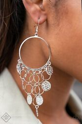 All CHIME High Chandelier Earrings Silver Paparazzi $5.00