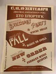 BIRTHDAY PARTY FALL NEW ORDER A4 FLYER GREECE 82 ORIG NICK CAVE JOY DIVISI GBP 75.00