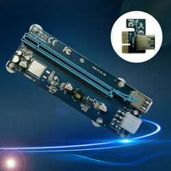PCI E Express X1 to Dual PCI Riser Extend Adapter Card With USB 3.0 Cable $6.93