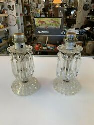 Vintage Glass Lamps with Prisms Matching set of 2 $60.00