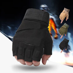 Fingerless Tactical Shooting Gloves Military Army Half Gloves For Outdoor Sports $11.99