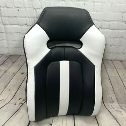 Leather Gaming Chair Desk Replacement Back ONLY Black White High RealSpace $44.99
