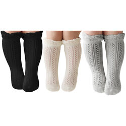 3Pairs Baby Girls Boys Knee High Cotton Socks for 0 24 Months Infant Toddlers $6.99
