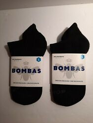 LOT OF 2 Bombas Women Socks Size Small Black Ankle Socks Brand New $12.50