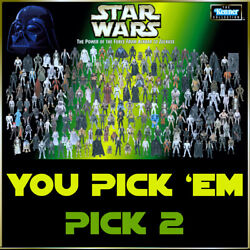 Star Wars Power Of The Force Figures Green Card YOU PICK 2 FIGS Ewoks Jawas Yoda $20.96