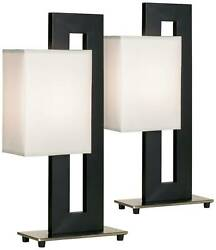 Modern Table Lamp Set of 2 Black Floating Square for Living Room Lamps Plus $99.90