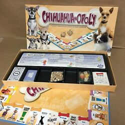 NIB Chihuahua Opoly Monopoly Board Game Late For The Sky Parts Still Sealed $34.99