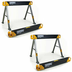 2 Pack TOUGHBUILT 42.4quot; Steel Sawhorse and Jobsite Table Pair 2200 lb. Capacity $77.84