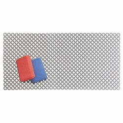 mDesign Decorative Kitchen Sink Dish Drying Mat Grid Farmhouse Sink Protector $12.78