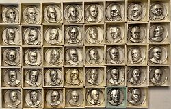Vintage Medallic Art Co. Presidential Art Medals .999 Pure Silver set of 39 $1350.00