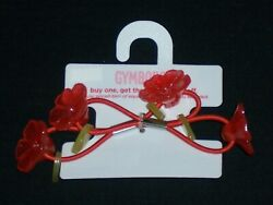 Gymboree girls quot;BEACH SHACK quot; HAIR PONIES...SET of 2...FLOWERS...NWT $10.00