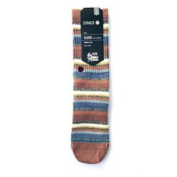 Stance Boys Red Crew Knit Striped Riot Boys Ankle Biters Casual Socks L 2 5.5 SJ $10.80