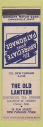 Matchbook Cover Old Lantern New Canaan CT $3.99