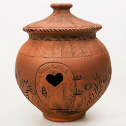 Vegetables Storage Clay Stoneware Container Rustic For PotatoesCarrotsOnions $38.95