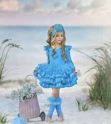 NEW Dollcake PEP IN HER STEP TUTU TEAL Dress Special Party Girls sz 3 $200.00
